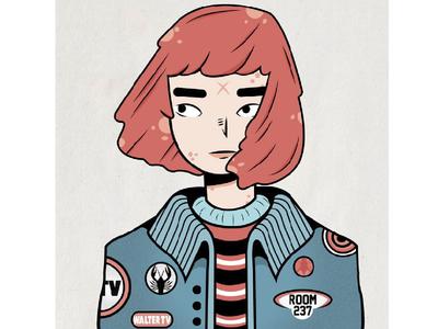 Pink Girl music aestheatic vaperwave characterdesign character venezuela caracas ilustracion illustration pink