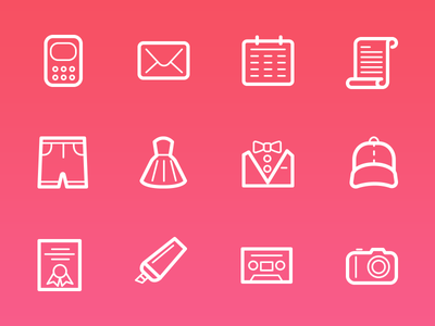 Smart stroke line icons smart stroke outline icons camera icon email vector