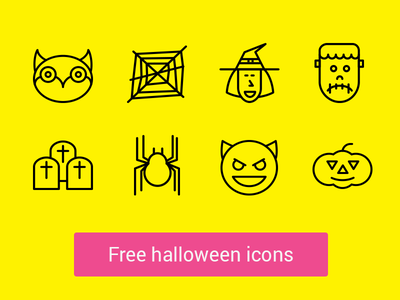 ★ Free Halloween Icons icons halloween icons line icons ios icons outline icons