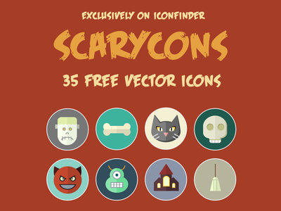 Free halloween color icons