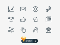 100 Free Sketch Icons icons line-style sketch ios8 ios eps vector free