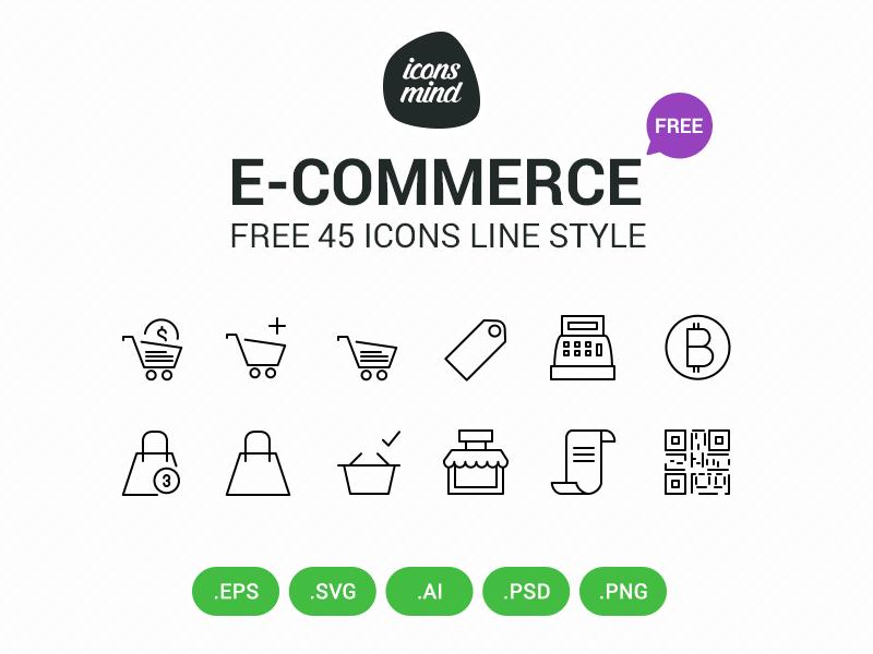 Free E Commerce Icons icons eps ios free ecommerce line shopping