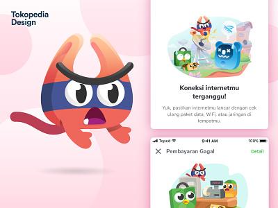 Piko - Toped Universe tokopedia ux ui user interface user experience plastic bag cat character designs design mascot illustration branding