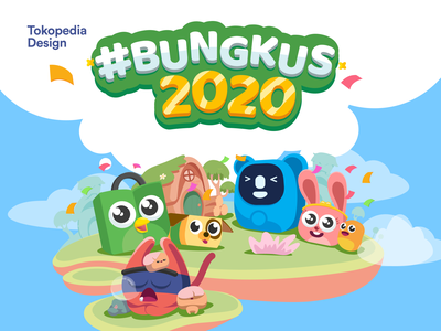 Bungkus 2020 illustration art user interface ui character mascot product exploration branding design vector illustration tokopedia