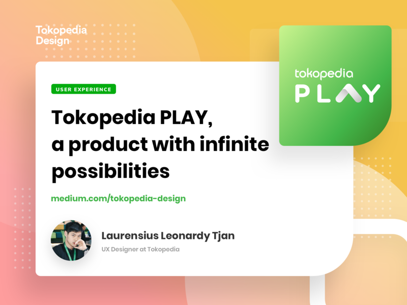 Tokopedia Play - Medium vector typography search logo icon illustration branding design list card product list product mobile apps exploration apps tokopedia ux user interface user experience ui