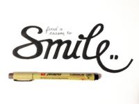 Smile - Finished Handlettering