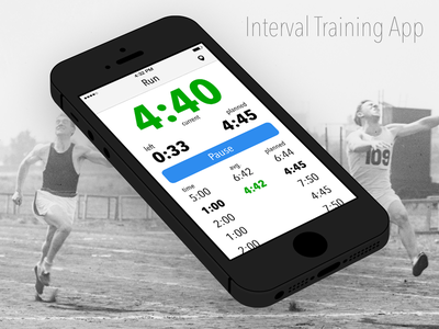 Interval Training App concept iphone running app
