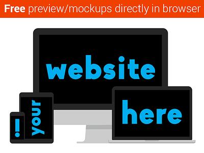 Responsapple free freebie responsive mockup webdesign. showcase apple