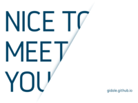 Nice to meet you too