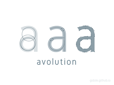 avolution typography poster gidole