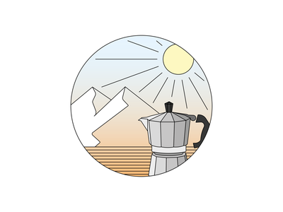 I Outdoor coffees friendships sun quality times mountains coffee vectors graphicdesign littleillustrations illustrator illustration