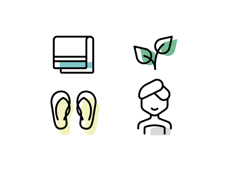 Icon Set I Wellness swatches outlines icons set design vectors vector graphicdesign illustrator illustration