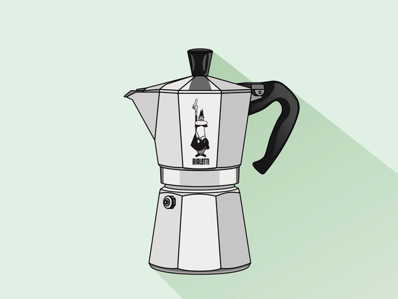 No. 2 // Bialetti pastel gradients vectorart vector illustrator illustration graphic graphicdesign colorpalette coffeelover coffee