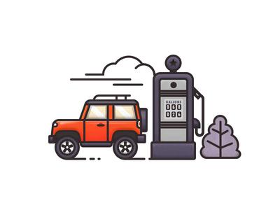 New Shot - 10/28/2018 at 08:58 AM illustration refuel jeep car