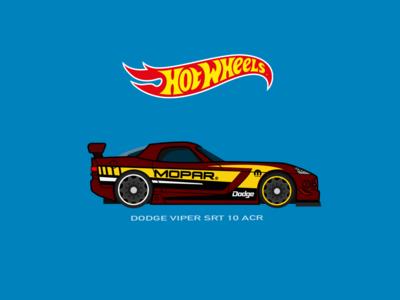 HotWheels Car Dodge Viper Illustration
