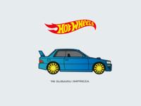 Hot Wheels Car Illustration Subaru🚗
