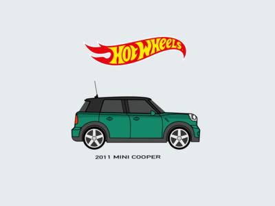 HotWheels Car Illustration mini copper