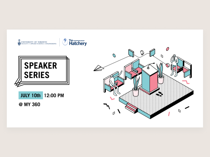 Speaker Series Activity Banner isometric vector banner design banner illustration