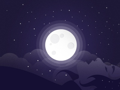 Woman in the Moon summer night night sky illustration moon
