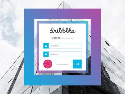 Dribbble Signin