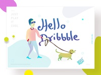 Hello Dribbble Illustration