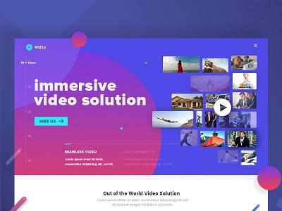 Video Solution Website streaming ui creative design solution video banner website