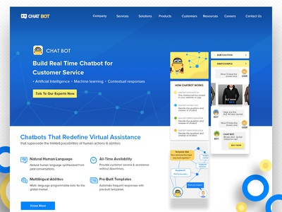 Chatbot web design chat landing website web design illustration chatbot