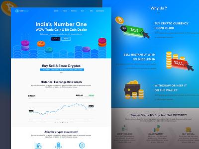 Bit Coin Website  Design bit coin app illustration design web website cryptocurrency