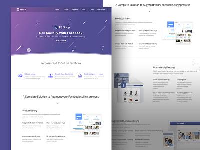Facebook Shop Website website design facebook shop illustration web