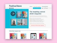 Positive News website redesign