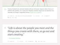 Personal Tumblr Theme - Photo & Quote posts. WIP