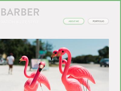 Personal Tumblr Theme - Header menu & post. WIP clean white minimal grey tumblr blog menu buttons header