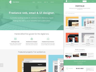 oscarbarber.com - New site. New times. oscarbarber website email clean minimal interface web design email design freelance responsive portfolio showcase