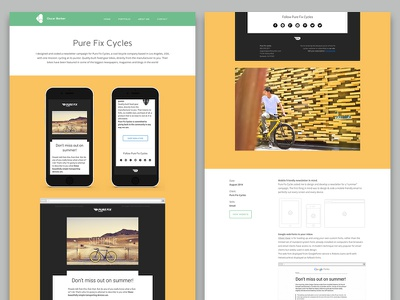 Pure Fix Cycles Email Campaign - oscarbarber.com email newsletter campaign template portfolio clean responsive html marketing bikes bycicles