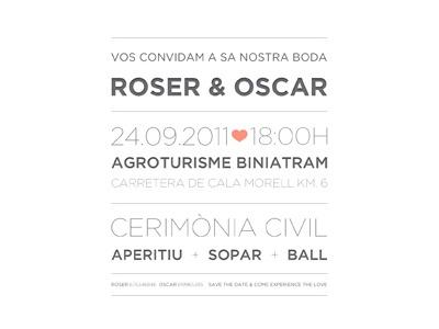 Wedding invitation - Event details wedding savethedate invitation