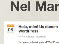 Blog post and header details on new Wordpress site