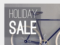 Holiday Sale Newsletter template - Banner Main image