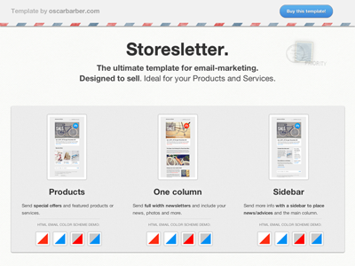 Storesletter. Ultimate HTML email marketing template  email template html sell products services clean minimal grey white responsive website
