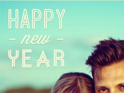 Happy New Year! postcard 2012 typography newyear