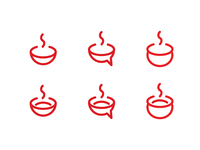 Food App Logo iterations