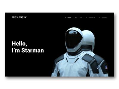 SpaceX Starman Website