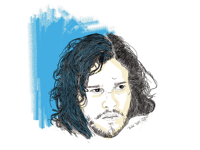 Jon Snow Illustration targaryen starks kit harington george r r martin a song of ice and fire jon snow game of thrones digital art illustration