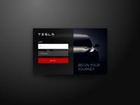 Tesla Login Concept