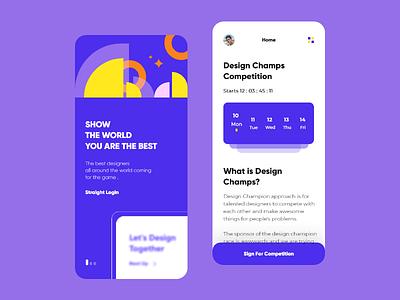 Competition UI trend trends geometric art designing app uxdesigner competition uxdesign typography 2d ux design ui clean branding app minimal