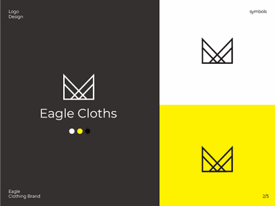 Eagle Clothing brand typography clean 2d design branding and identity clothing label clothing company logotype symbol logodesign logo clothing brand branding clothing cloths minimal