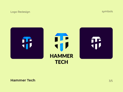 Hammer Tech Logo Redesign illustration clean vector design minimal brand identity brand branding redesign tech logo tech hammer logo design symbol type typography logo