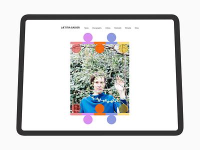 Laetitia Sadier - Official Site Redesign modernism art deco minimalism ux website web design ui monade stereolab design laetitia sadier drag city sketch music
