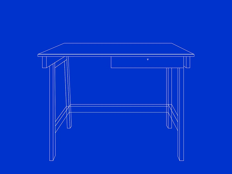 A Desk Blueprint By Justin Carter Dribbble Dribbble