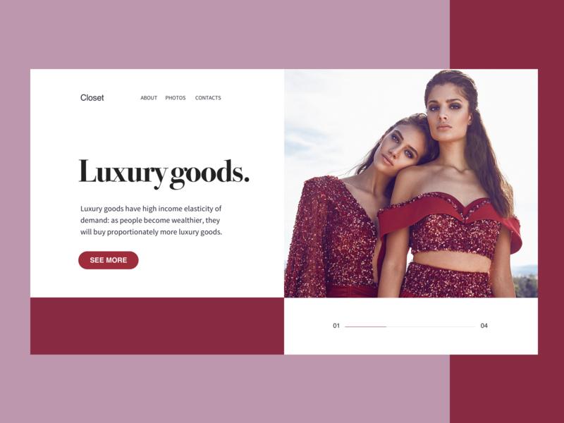 luxury web design design page ui web