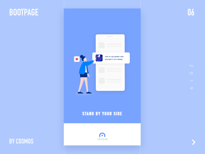 Boot Page ui illustration blue bootpage